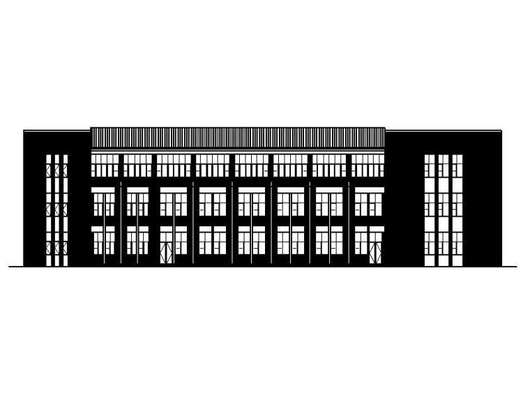 [宁夏]经典学院风格中学教学楼建筑施工图