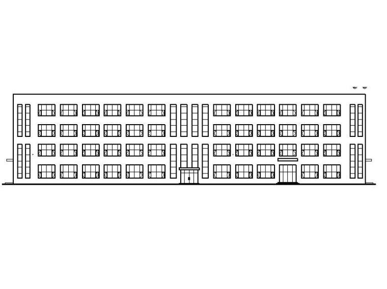 [宁夏]多层长条型框架结构办公楼建筑施工图