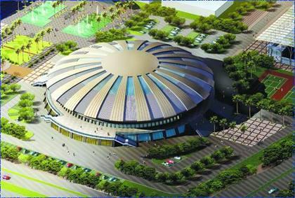 三亚市体育中心体育馆大跨弦支穹顶钢结构设计研究