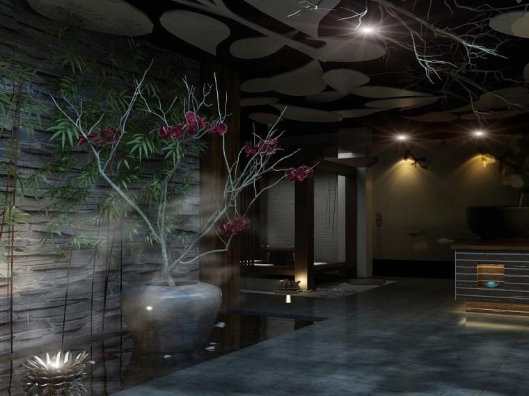 中式茶馆成套3D模型下载(附效果图)