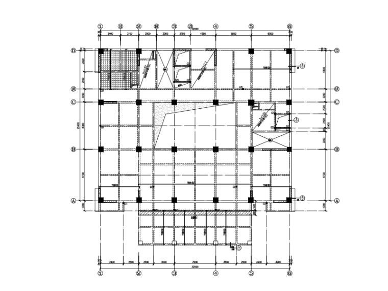 十五层框剪结构办公楼结构施工图(CAD、14张)