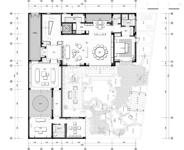 [浙江]香港无间-杭州江南里四居室别墅平面施工图+设计方案+效果