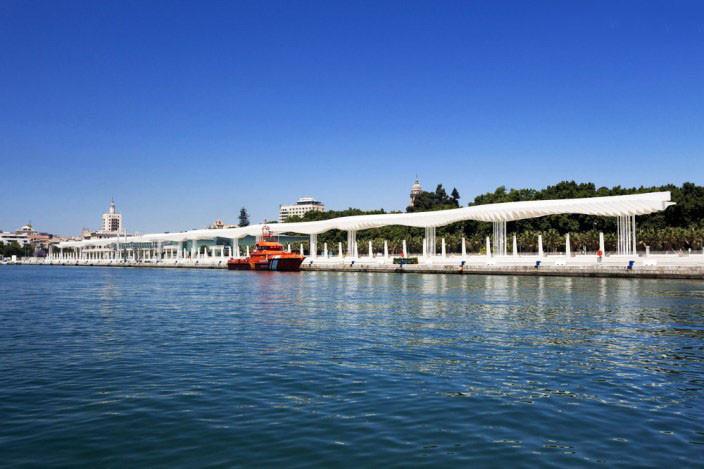 马拉加旧港口景观改造