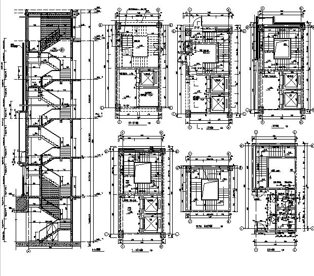 [上海]10个子项目商务办公项目施工图(全专业图纸)_10