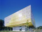 法国高中跳动的金色多孔铝合金穿孔网板幕墙