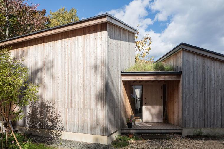 日本多层次空间木结构办公建筑外部实景图 (4)