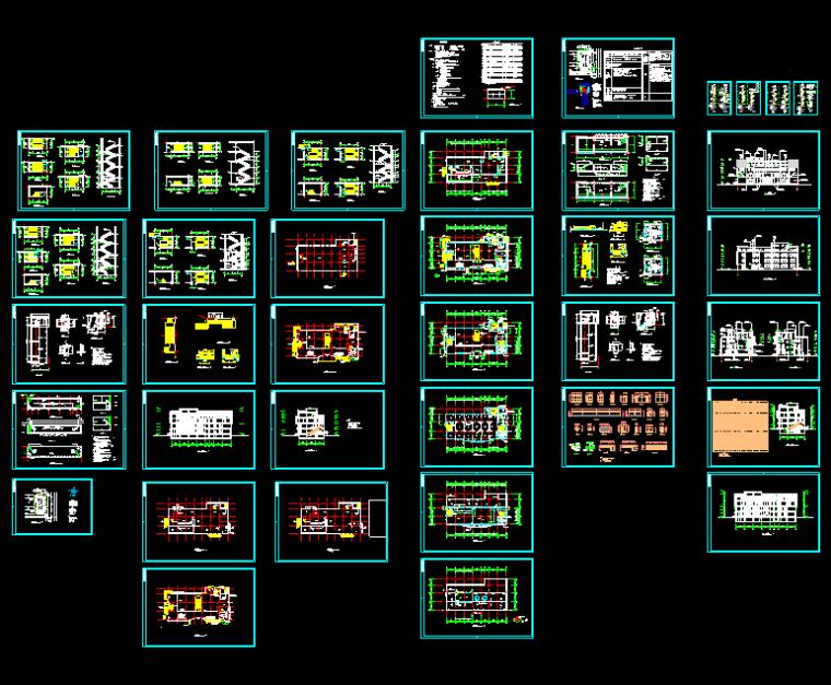 4层现代风格超市建筑CAD施工图纸(超全38张)