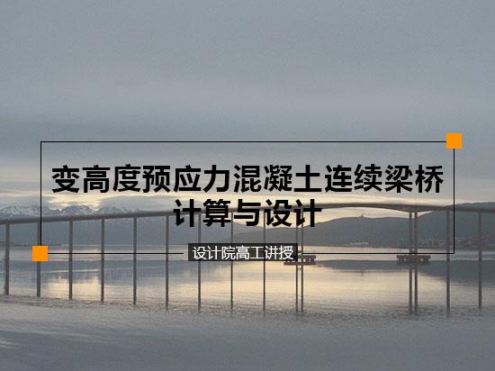 变高度预应力混凝土连续梁桥计算与设计(设计院高工讲授)