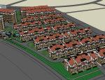 欧式居住区建筑模型设计