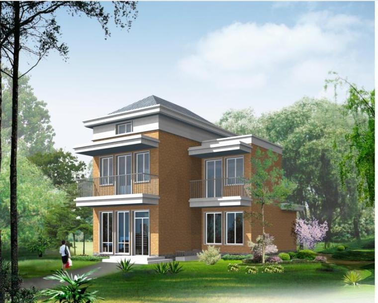 二层别墅现代风建筑设计