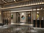 古典宫廷酒店大厅3D模型