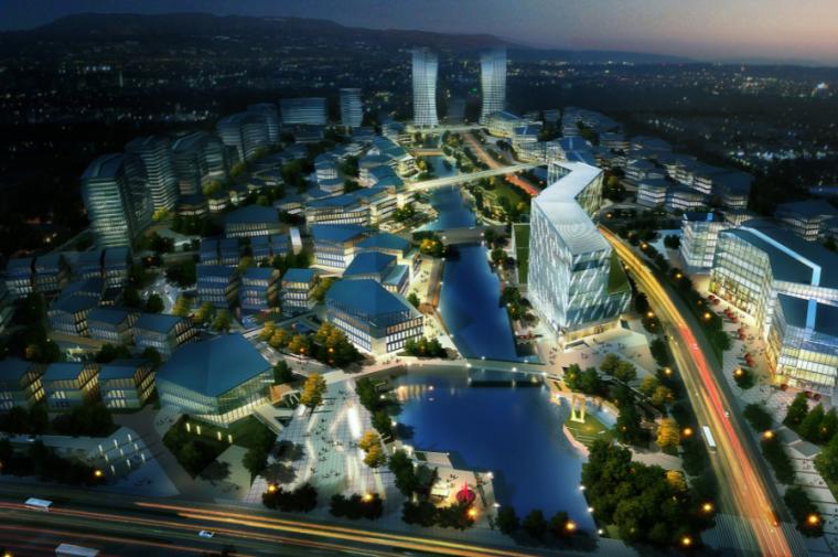 [上海]国际金融中心产业园建筑设计方案文本