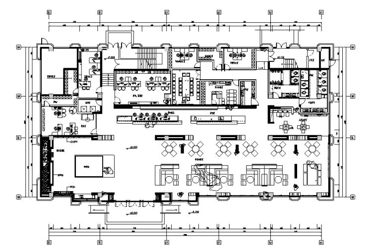 [分享]建筑部售楼cad平面图十字免费下载cad2008资料图片