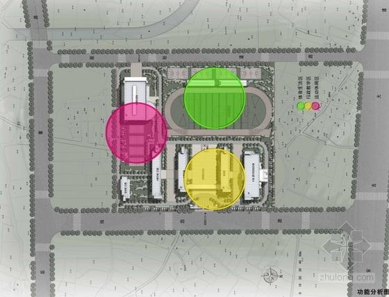 现代风格小学规划设计分析图