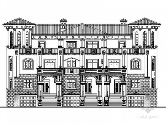 [四川]西班牙风格三错拼接独栋别墅设计方案图(知名建筑设计院)