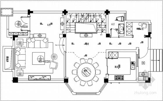 [江苏]英伦印象三层别墅样板间软装方案
