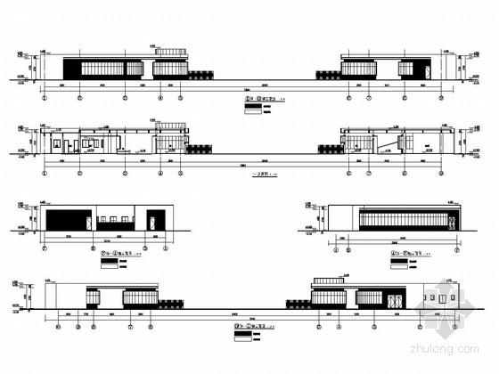 体育中心东西北大门结构施工图(含建筑图)