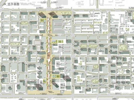 沿街地块规划及高层建筑设计总平面图