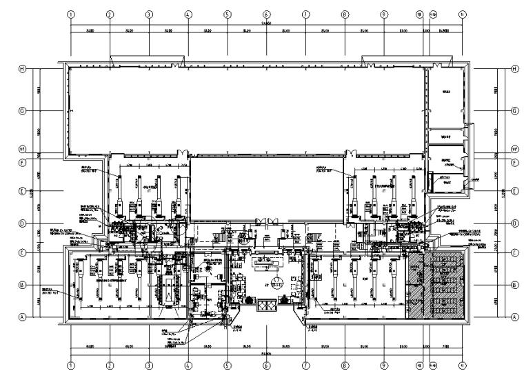 水泥墙工业风格办公楼研发楼设计施工图(附效果图)