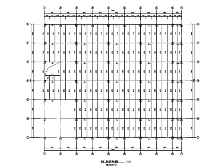 门式刚架带夹层结构二层厂房建筑结构施工图