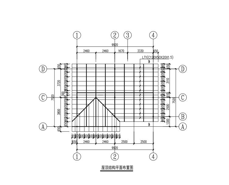 轻钢结构装配式房屋结构施工图
