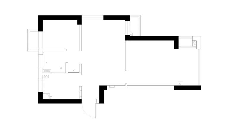 53㎡混搭风格小公寓,最理想的单身生活居住所