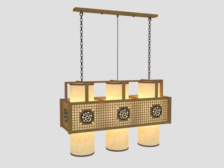 餐厅中式吊灯3D模型下载