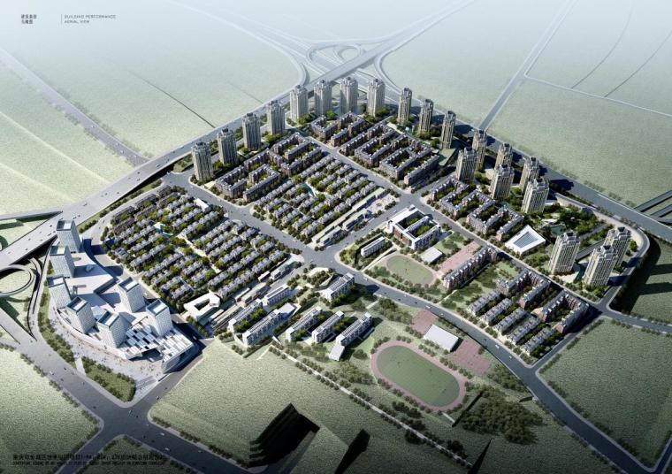 [重庆]高层现代Artdeco风格住宅区方案(含别墅、洋房、商业)