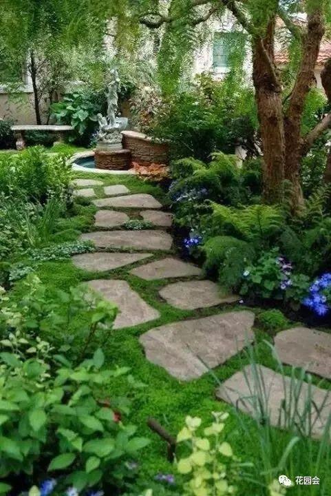 花草与石板的关系•花园小径_21