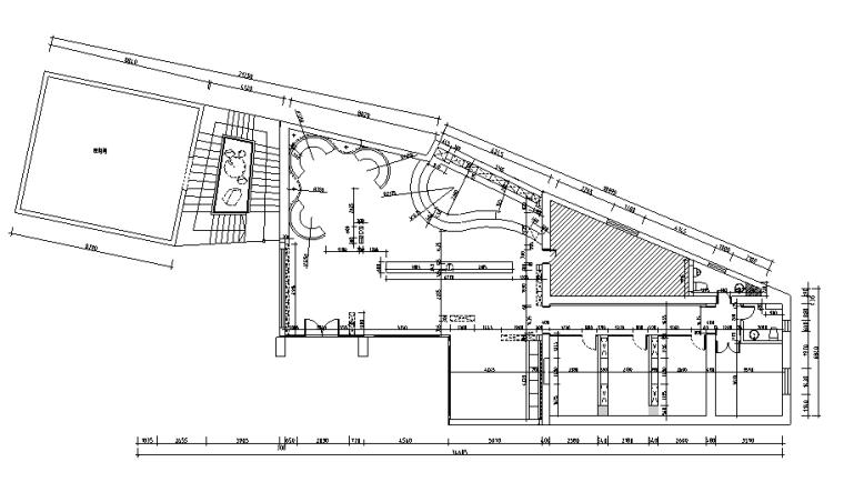 【新疆】复古时尚餐饮空间设计施工图(附效果图)_1