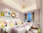 皮粉色调双胞胎儿童房3D模型