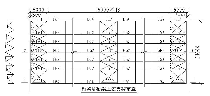 21m跨梯形钢屋架厂房结构设计计算书
