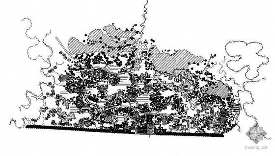 济南某碑林景观设计图