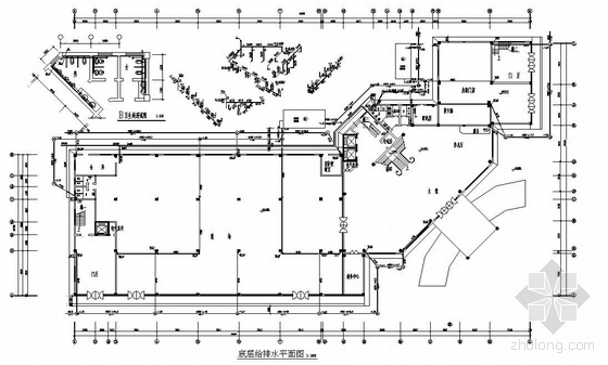 upvc排水管施工规范资料下载-某七层带跃层综合楼给排水消防图纸