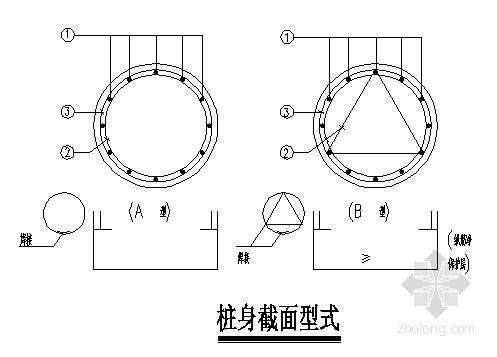 人工挖孔抗拔桩大样及桩表节点构造详图
