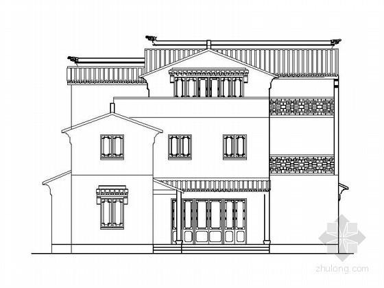 某三层中式别墅建筑扩初图