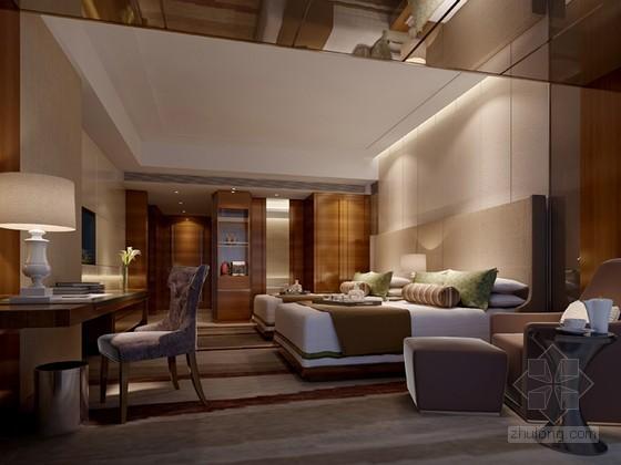 酒店双人间3D模型下载