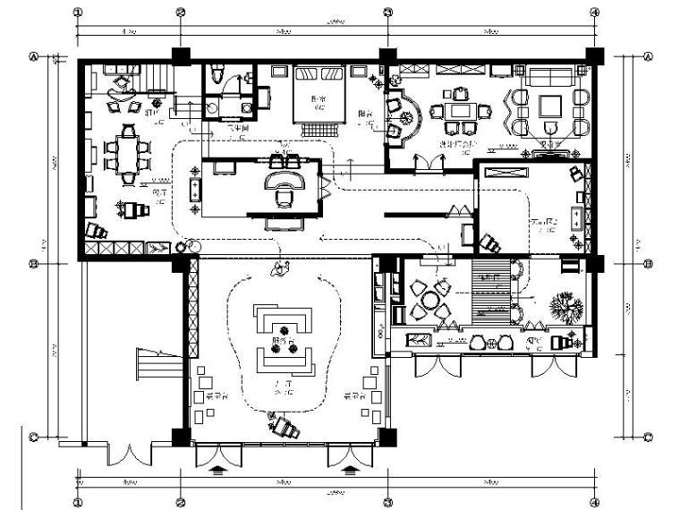 [福州]某知名现代简约连锁装饰品展厅室内设计施工图(含效果图)