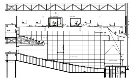 甘肃文化艺术中心场馆观众厅GRG氟碳喷涂满堂架搭设方案(四层钢框架支撑+钢砼框剪结构)_1