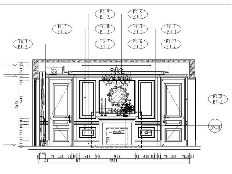 [成都]精品3层别墅样板间室内设计施工图(含效果图、材料表)_6