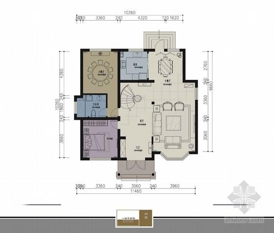 奢侈大气中式风格别墅样板房方案图(含效果图)