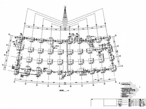[辽宁]二层框架结构商业区结构施工图