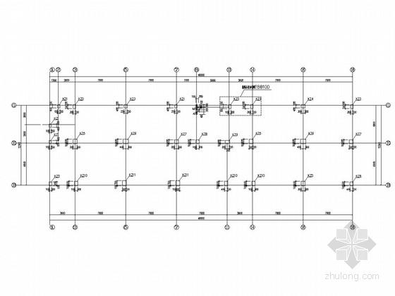 7层框架结构商务楼结构图(静压PHC管桩)