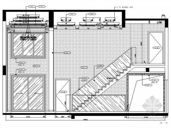 [昆山]新古典双层别墅样板房装修图(含效果)走廊立面图