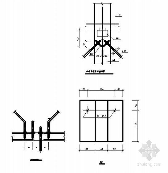 门式钢架详图之支撑与梁柱连接