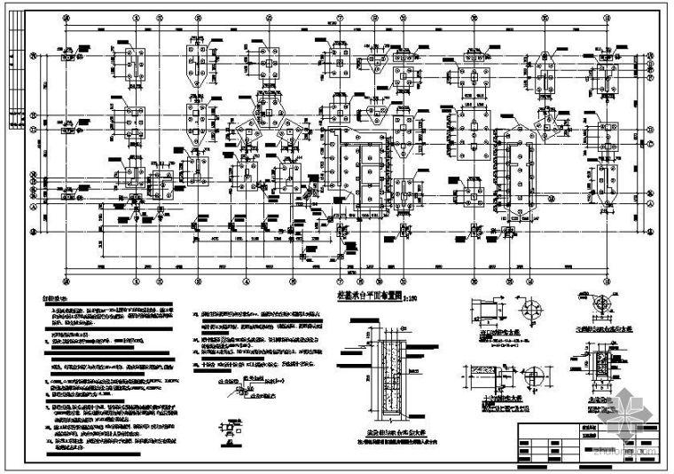 某大厦预应力抗拔桩节点构造详图
