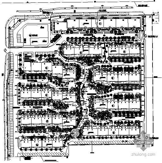 某住宅小区环境景观绿化设计平面图