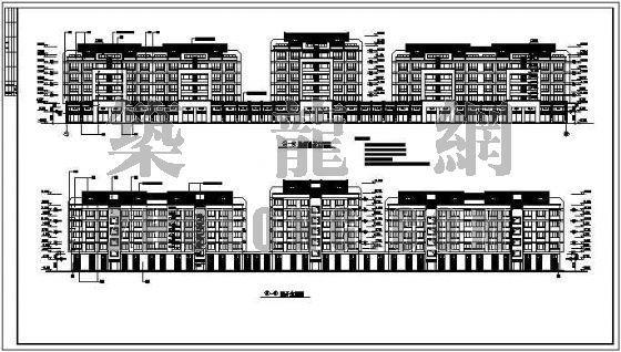 沿街住宅建施图