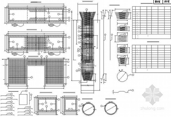混凝土肋板式桥台承台、桩基钢筋布置节点详图设计