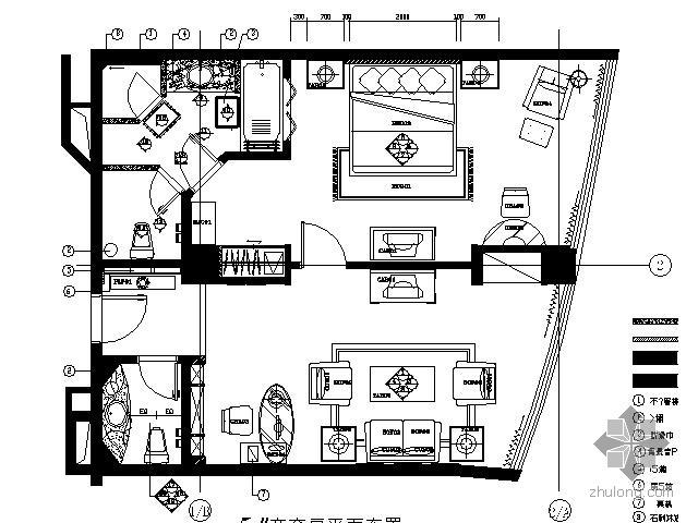 [海口]酒店商务套房施工图